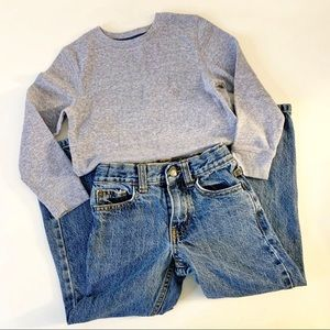 Cat & Jack Henley & Jeans Outfit 5T